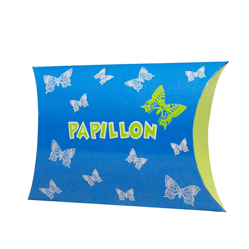 Custom Printed Pillow Shaped Gift Box for Papillon Brand