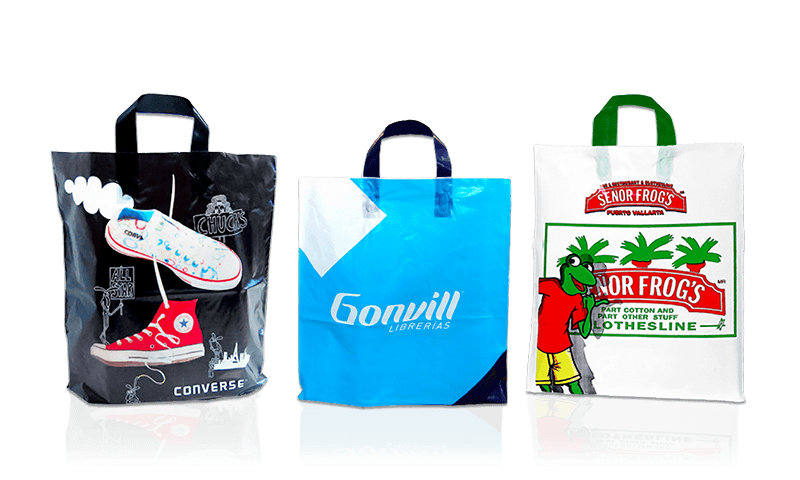 Flexible Soft Loop Handle Plastic Shopping Bags